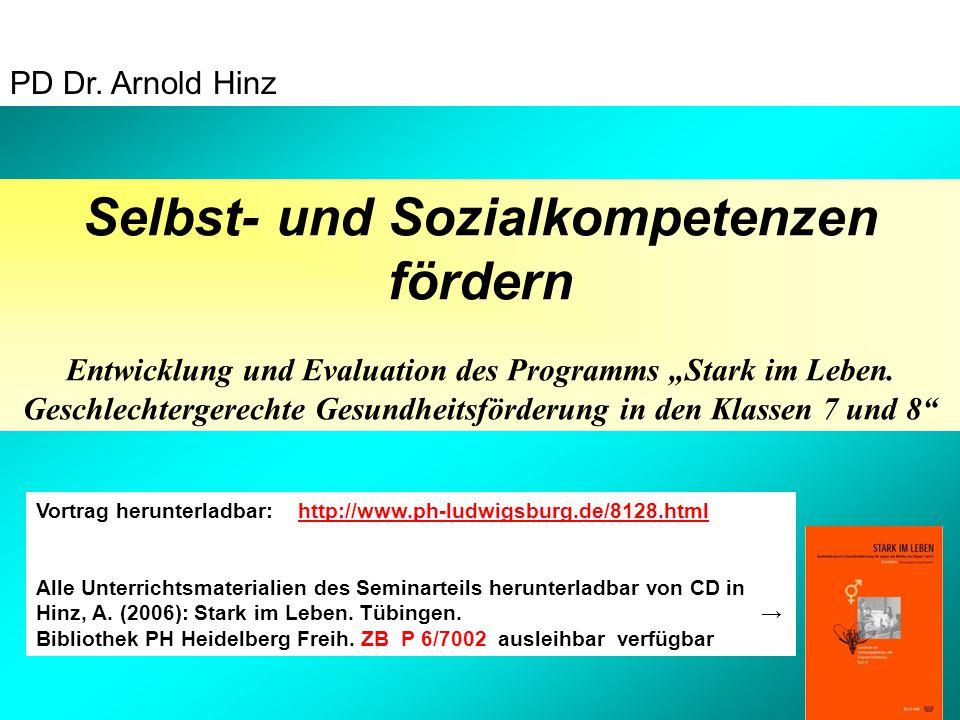 """Selbst- und Sozialkompetenzen fördern Entwicklung und Evaluation des Programms """"Stark im Leben."""
