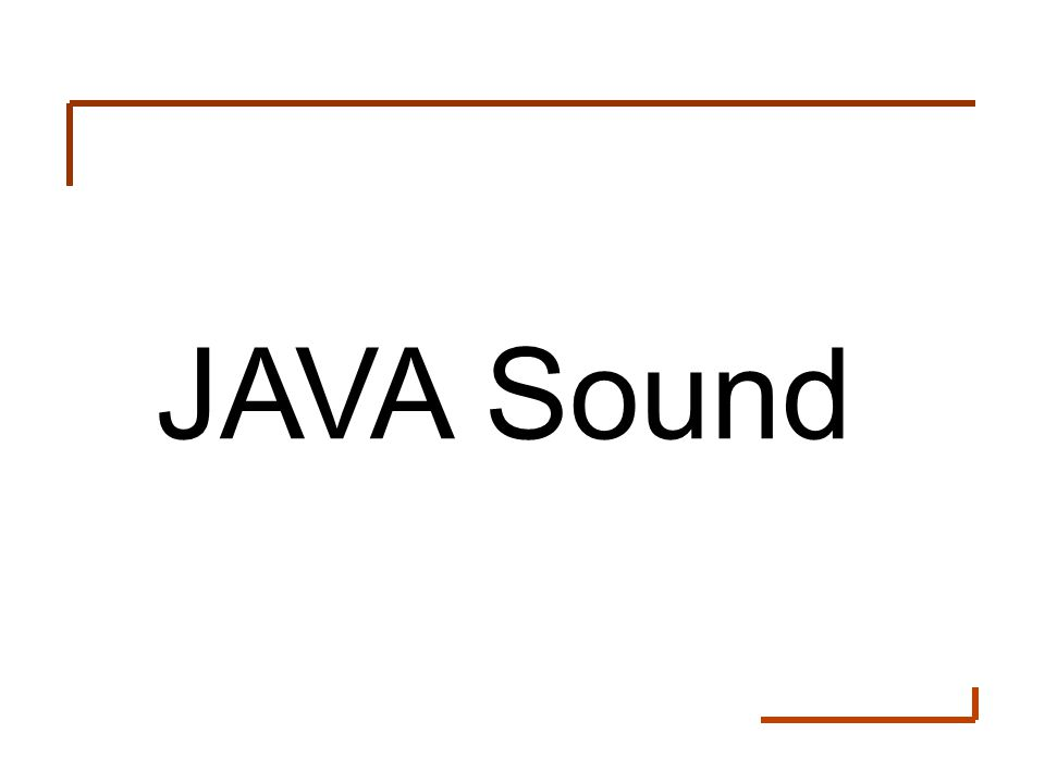 JAVA Sound