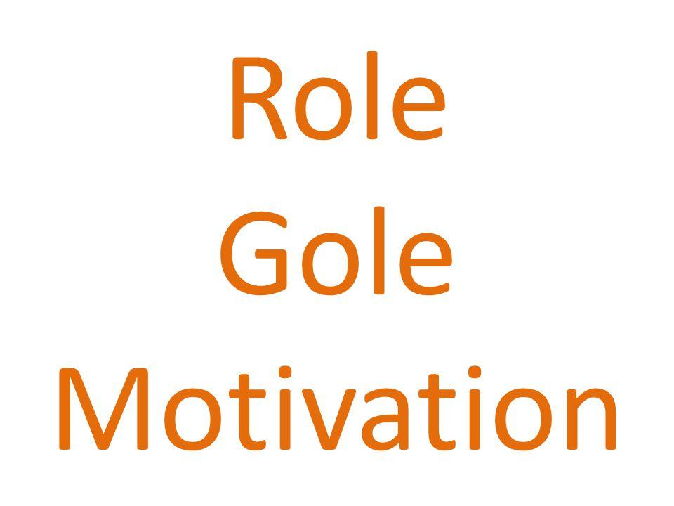 Role Gole Motivation