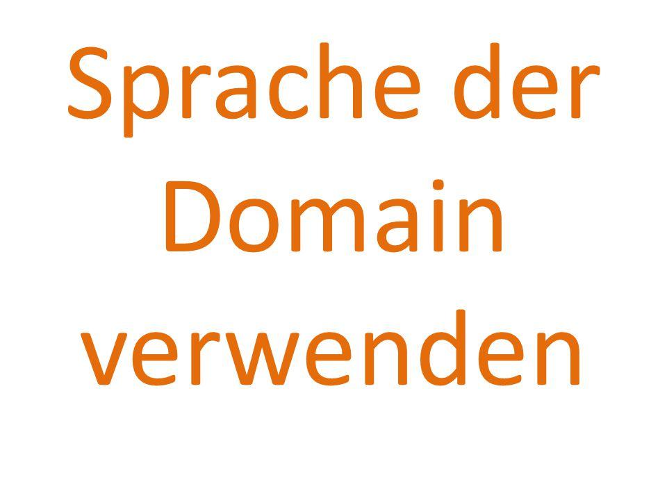 Sprache der Domain verwenden