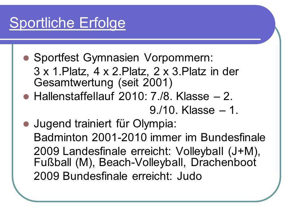 Sport am A.-v.-Humboldt-Gymnasium Sportzusatzangebote (z.B.