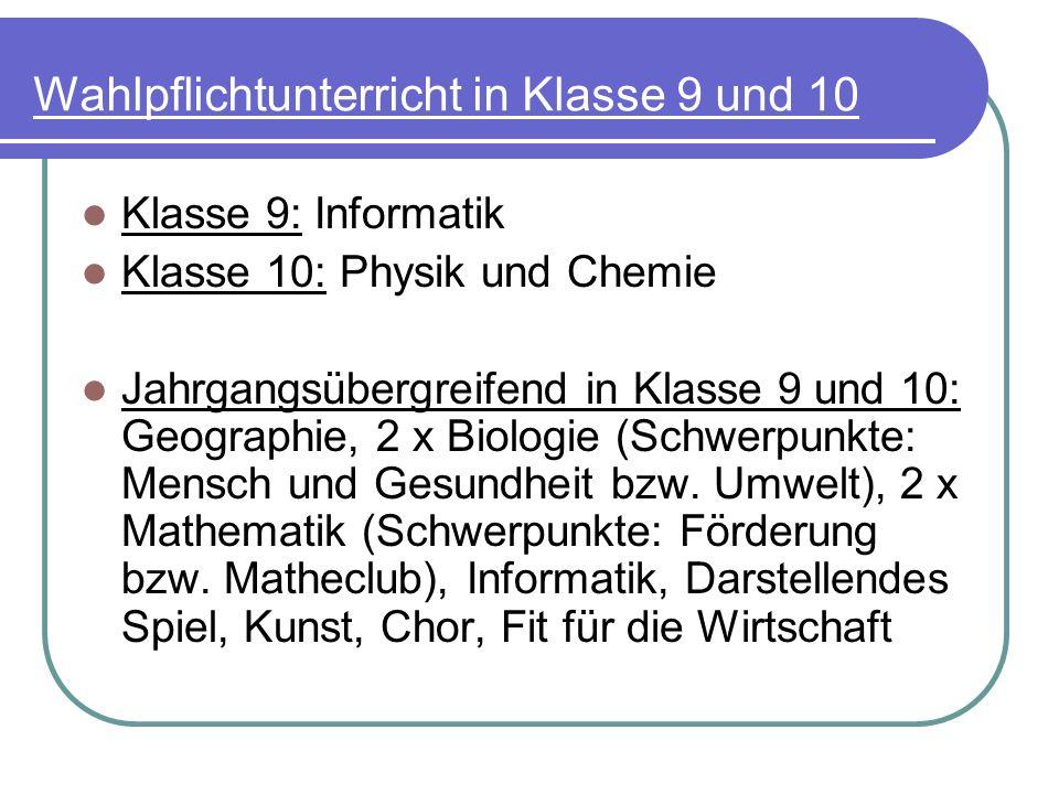 Sportliche Erfolge Sportfest Gymnasien Vorpommern: 3 x 1.Platz, 4 x 2.Platz, 2 x 3.Platz in der Gesamtwertung (seit 2001) Hallenstaffellauf 2010: 7./8.