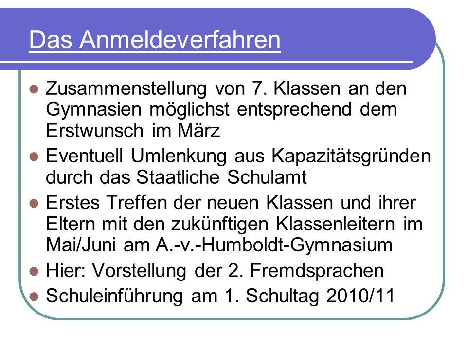 Das Anmeldeverfahren Das A.-v.-Humboldt-Gymnasium ist die örtlich zuständige Schule für alle Schüler der Universitäts- und Hansestadt Greifswald und für die umliegenden Gemeinden des Landkreises Ostvorpommern (Details bitte im Sekretariat erfragen).