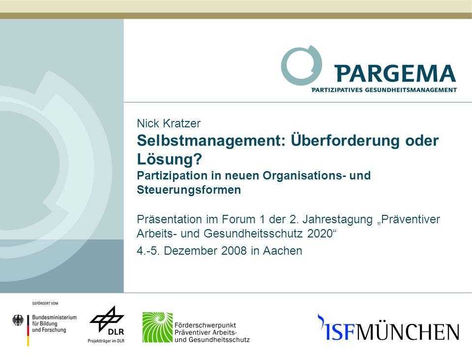 Nick Kratzer Selbstmanagement: Überforderung oder Lösung.