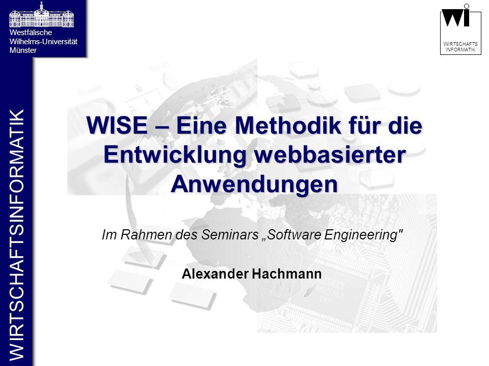 WIRTSCHAFTSINFORMATIK Westfälische Wilhelms-Universität Münster WIRTSCHAFTS INFORMATIK WISE – Eine Methodik für die Entwicklung webbasierter Anwendung