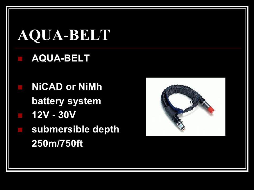AQUA-BELT AQUA-BELT NiCAD or NiMh battery system 12V - 30V submersible depth 250m/750ft