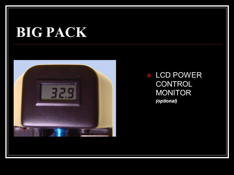 OPTIONAL POWER PACK STANDARD POWER GÜRTEL BIG PACK sind optional lieferbar mit eingebautem: * LADEGERÄT * TIEFENTLADESCHUTZ * DIMMER-CONTROL