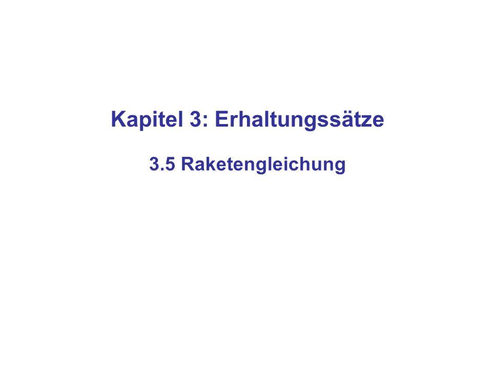 Kapitel 3: Erhaltungssätze 3.5 Raketengleichung