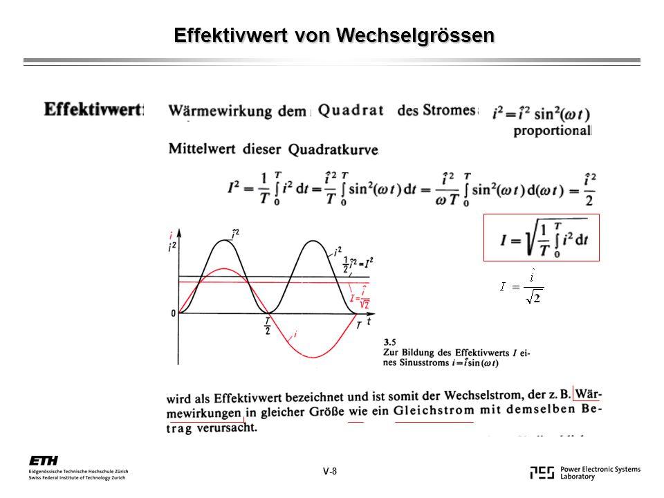 Effektivwert von Wechselgrössen V-8