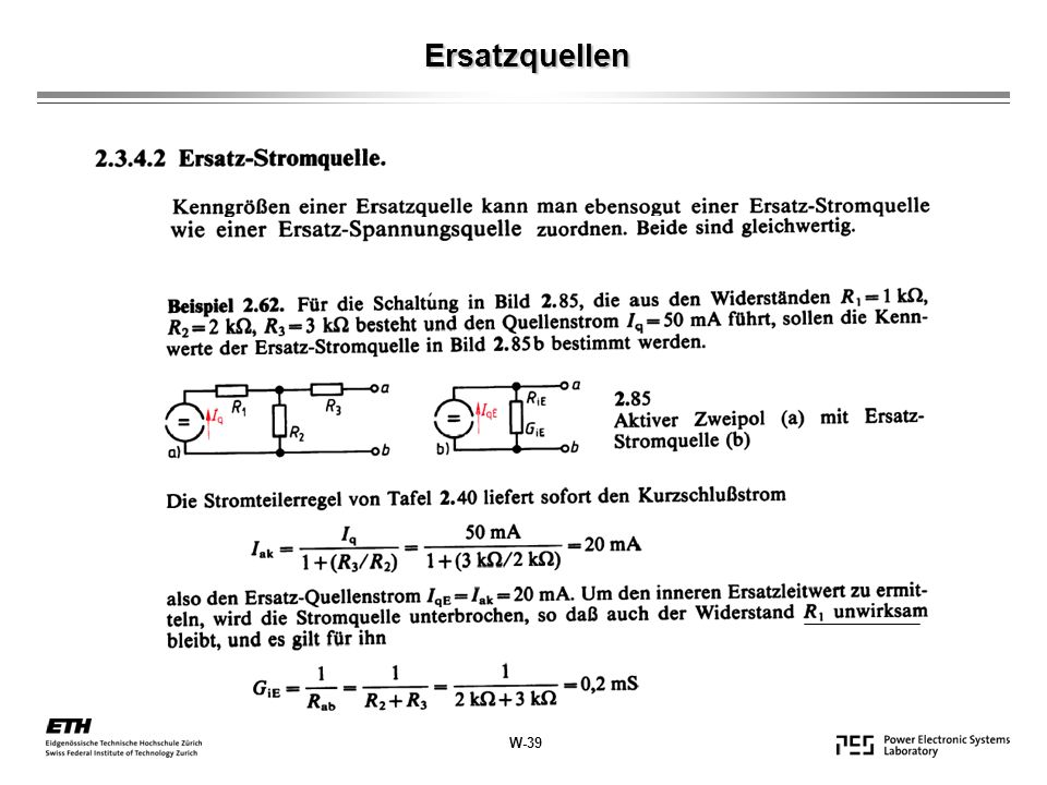 Belasteter Spannungsteiler W-40 ( )