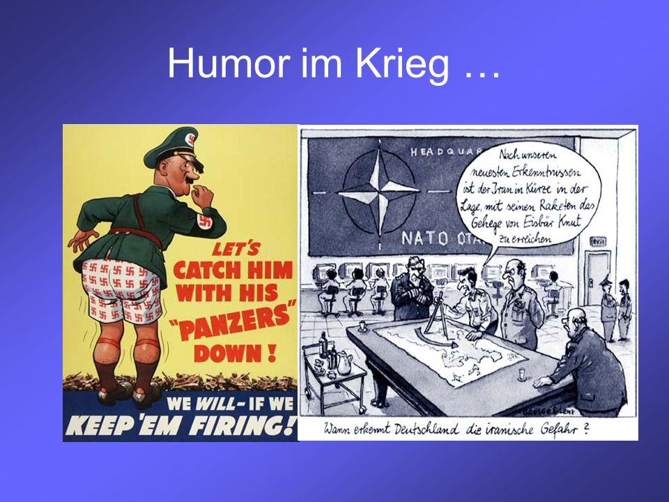 Humor im Krieg …
