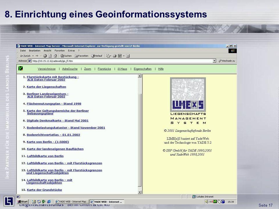Seite 17 8. Einrichtung eines Geoinformationssystems