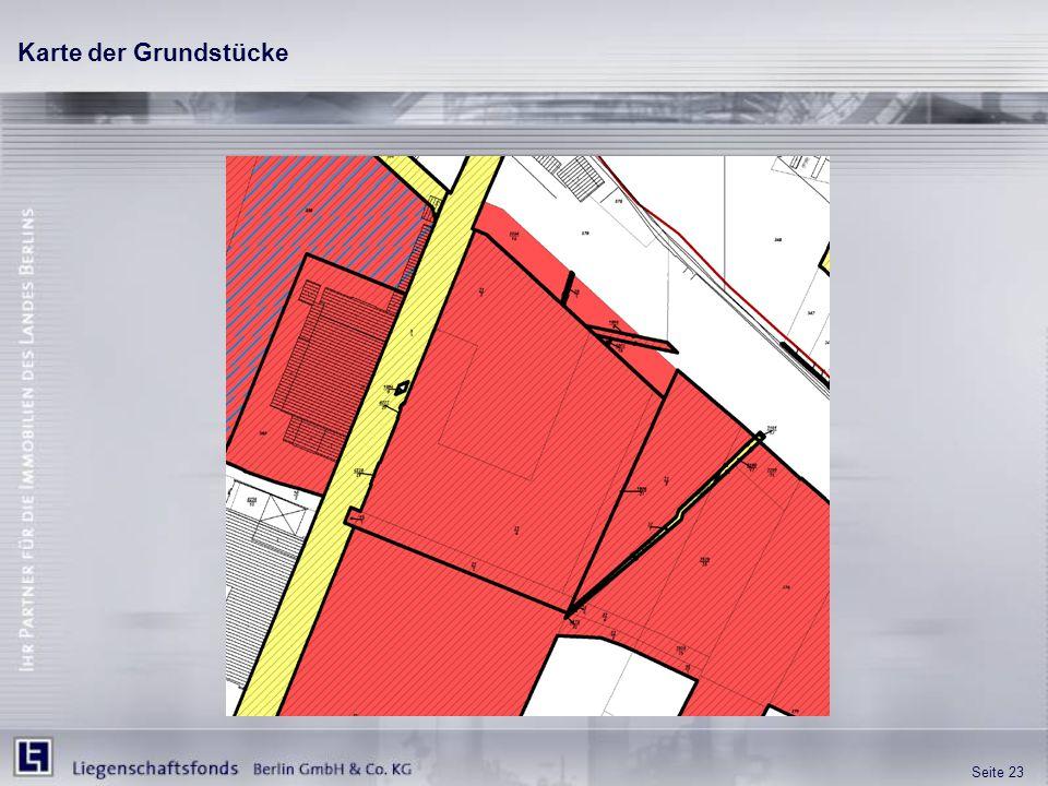 Seite 23 Karte der Grundstücke