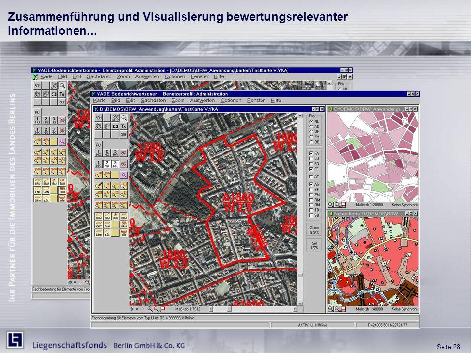 Seite 28 Zusammenführung und Visualisierung bewertungsrelevanter Informationen...