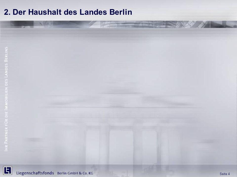 Seite 4 2. Der Haushalt des Landes Berlin