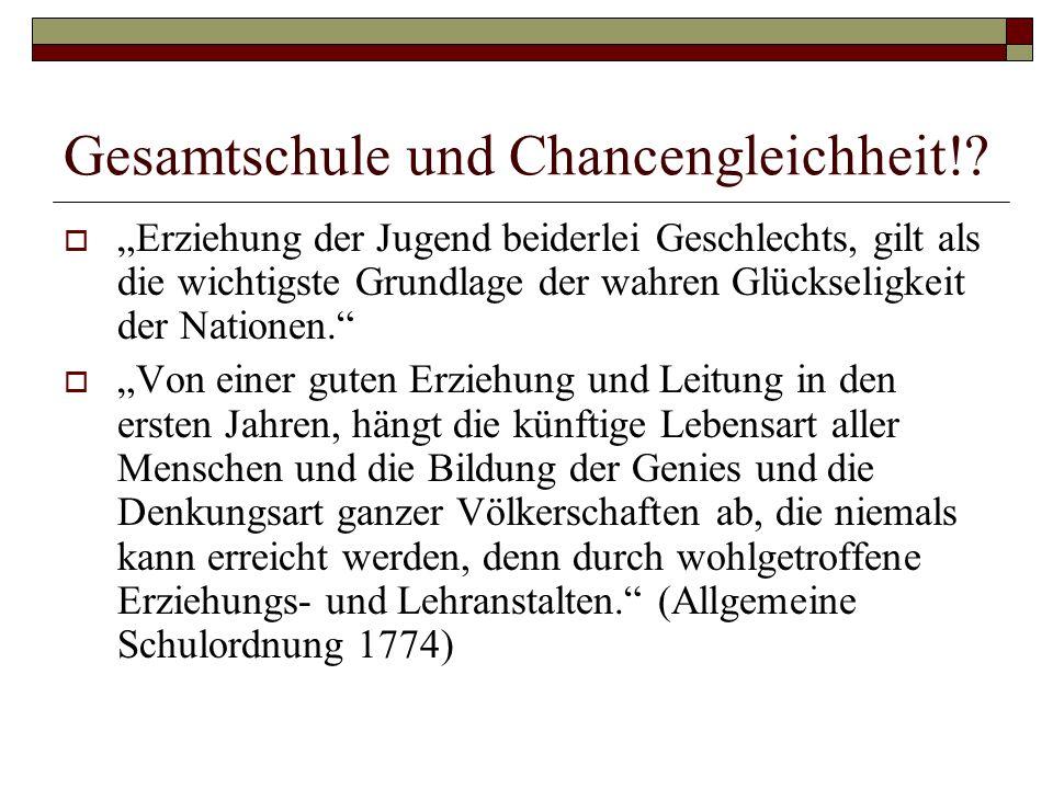 Gesamtschule und Chancengleichheit!.