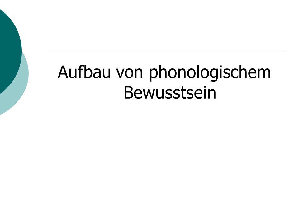 Aufbau von phonologischem Bewusstsein
