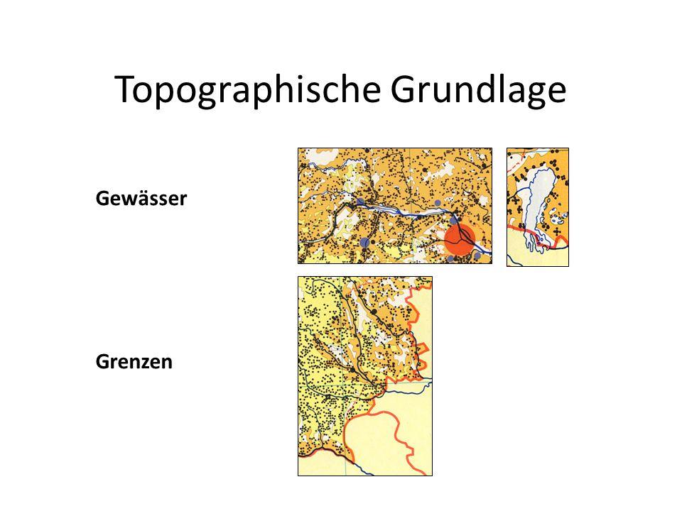 Topographische Grundlage Gewässer Grenzen
