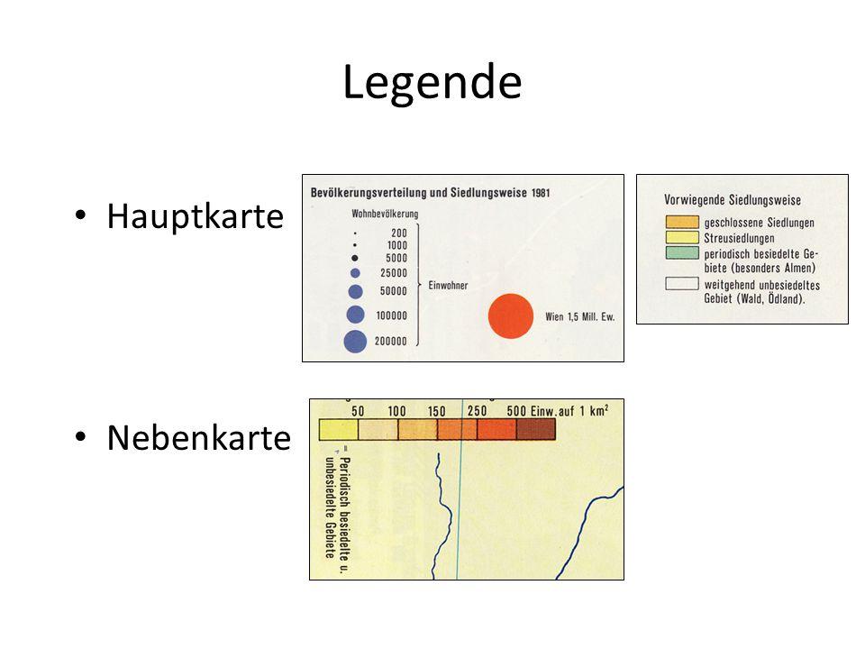 """Kritik Nebenkarte Keine Höhendarstellung Unbesiedeltes Gebiet (Gebirgsräume!) + periodisch besiedeltes Gebiet  Klassifiziert als < 50 EW/km² Flächenfärbung """"Ausland"""