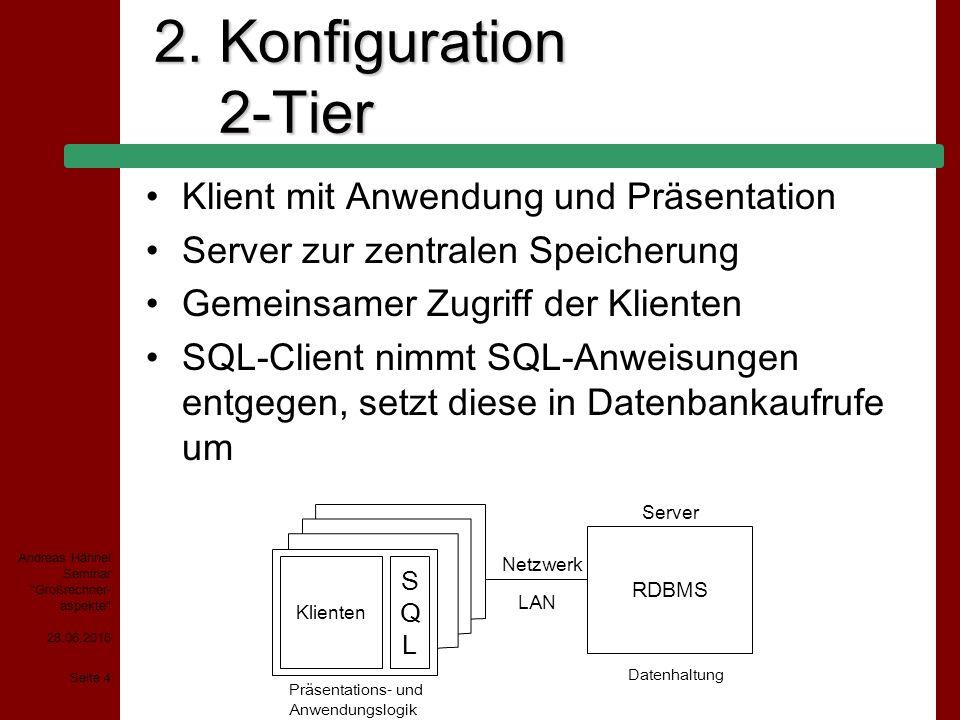 28.06.2015 Seite 15 Andreas Hähnel Seminar Großrechner- aspekte 4.