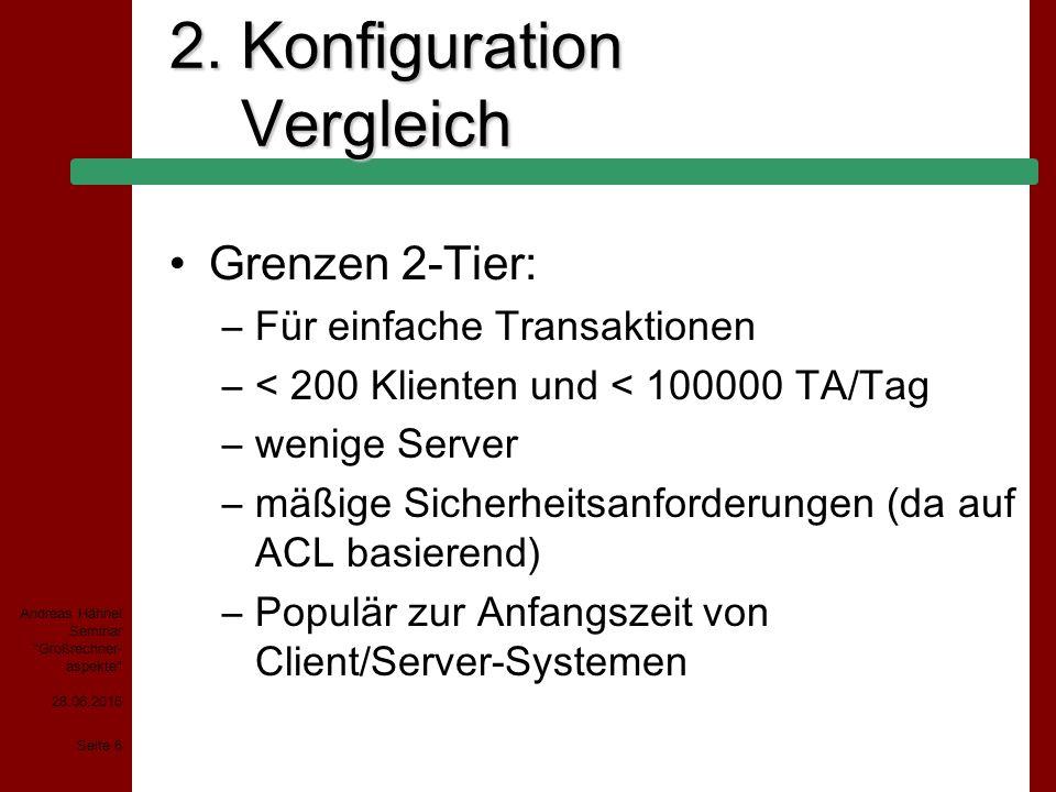 28.06.2015 Seite 7 Andreas Hähnel Seminar Großrechner- aspekte 2.