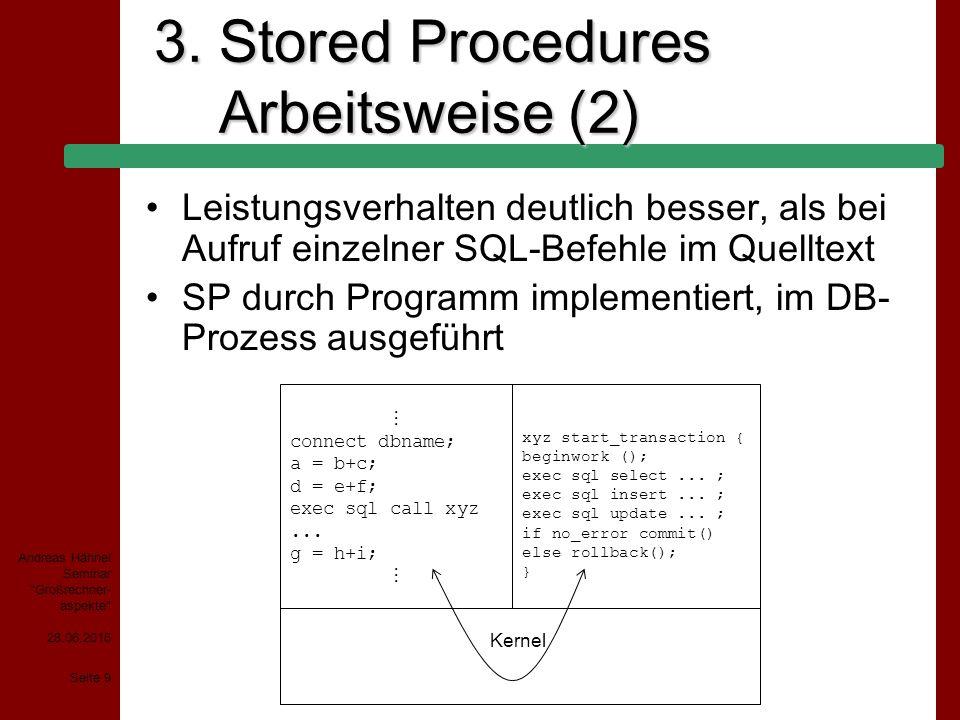 28.06.2015 Seite 20 Andreas Hähnel Seminar Großrechner- aspekte 5.
