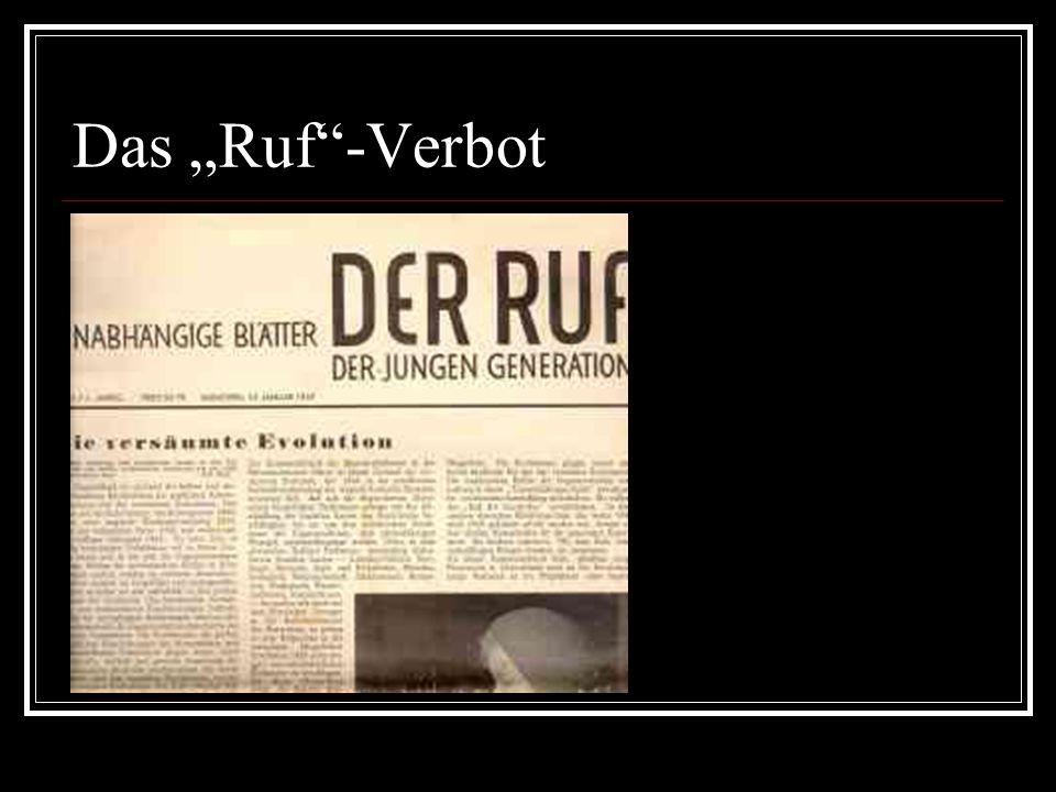 "Das ""Ruf""-Verbot"
