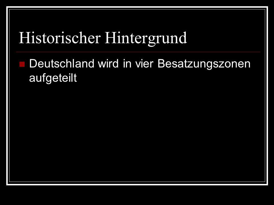 Deutschland wird in vier Besatzungszonen aufgeteilt