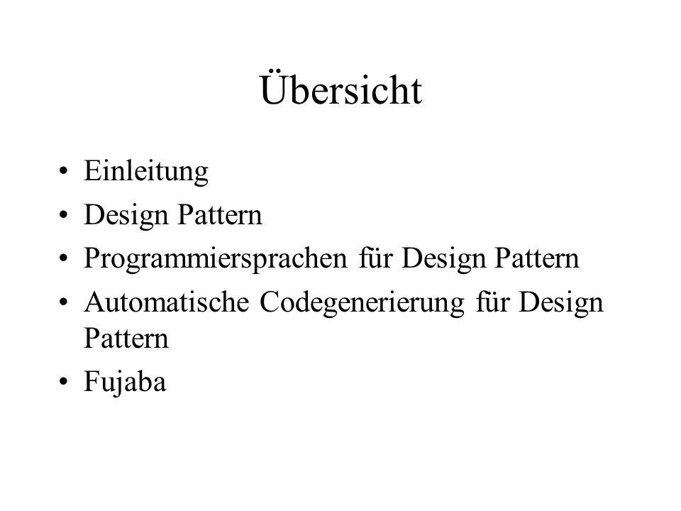 Einleitung Verbesserung der Softwarequalität durch: Entwicklungsmodelle (Wasserfallmodell) Design Pattern