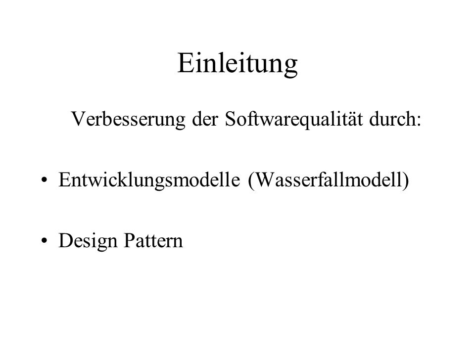 Beispiel für PaL 3 (Abstract Factory) Menu make Menu MetalMenuSpaceMenu structure Menu creation make class Menu creation make...