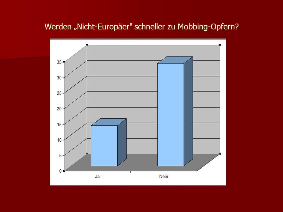 """Werden """"Nicht-Europäer schneller zu Mobbing-Opfern"""