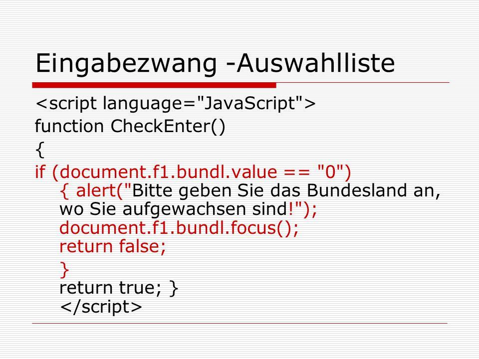 """Sonstige JS-Anwendungen  """"Zurück-Button weglassen function StartFB() { window.open (""""seite.php , Untersuchung , toolbar=no, hotkeys=no, location=0, status=yes, menubar=no, resizable=1, scrollbars=yes ) } Fragebogen"""