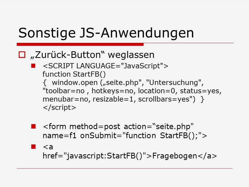 PHP-Befehle <?php $db = mysql_connect( localhost , user , passwort ) or die ( Konnte keine Verbindung zur Datenbank herstellen bitte informieren Sie mich!!!! ); mysql_select_db( Tabellenname ,$db); $sSql = INSERT INTO Tabellenname (datstart) values( .date( Y.m.d H:i:s ). ) ; $result = mysql_query($sSql); $sSql = SELECT max(nid) nid FROM Tabellenname ; $result = mysql_query($sSql); $nid=mysql_result($result,0, nid );...