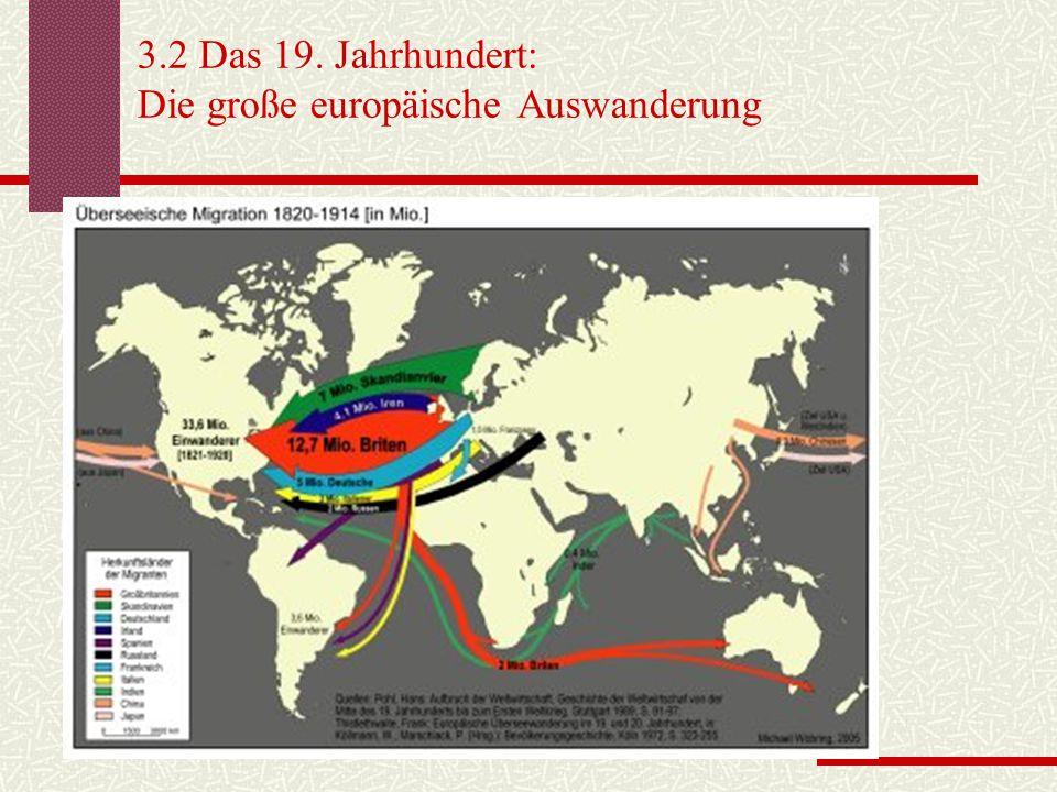 3.3 Die Gegenwart weltweit Ab- und Zuwanderung 2005