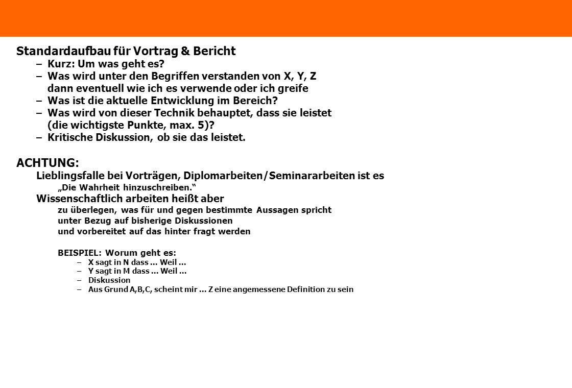 www.ximes.com Page 6 - 15-06-28 Standardaufbau für Vortrag & Bericht –Kurz: Um was geht es? –Was wird unter den Begriffen verstanden von X, Y, Z dann