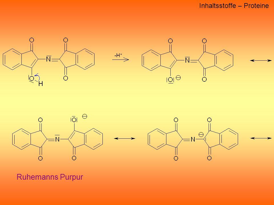 -H + Inhaltsstoffe – Proteine Ruhemanns Purpur
