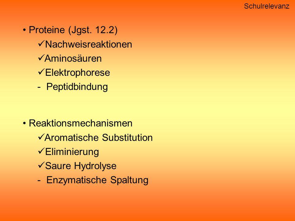 Schulrelevanz Proteine (Jgst.