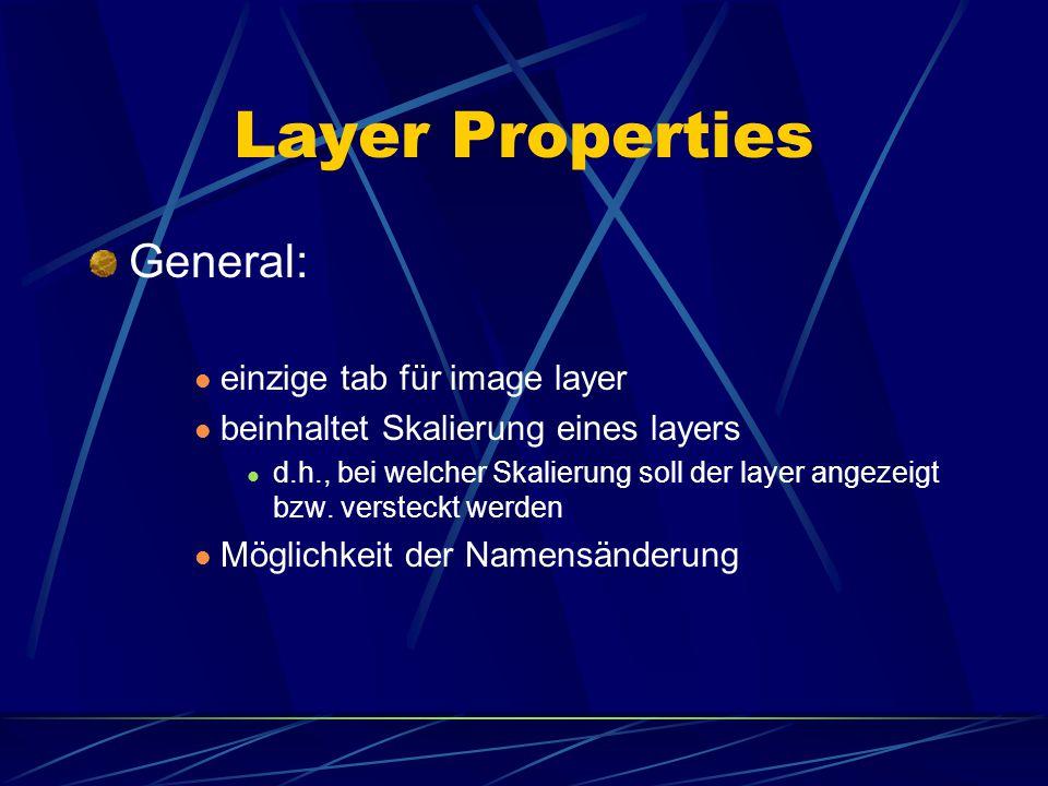 Layer Properties Label : ein label beschreibt ein feature nicht für image layers verwendbar werden verwendet, um labels zu platzieren man kann den lab