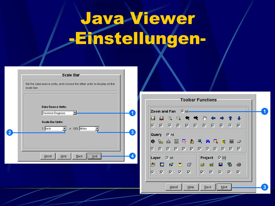 Java Viewer -Einstellungen-