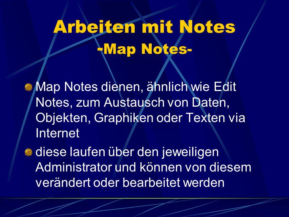 Arbeiten mit Notes - Konvertieren von Edit Notes- man wählt den zu konvertierenden folder aus anschließend klickt man den entsprechenden button an, gibt einen neuen Namen an und speichert ab XML shapefile