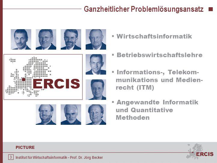 3 PICTURE Institut für Wirtschaftsinformatik – Prof. Dr. Jörg Becker Ganzheitlicher Problemlösungsansatz  Wirtschaftsinformatik  Betriebswirtschafts