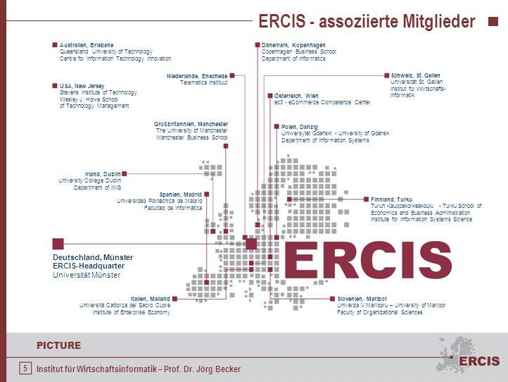 5 PICTURE Institut für Wirtschaftsinformatik – Prof. Dr. Jörg Becker ERCIS - assoziierte Mitglieder Österreich, Wien ec3 - eCommerce Competence Center