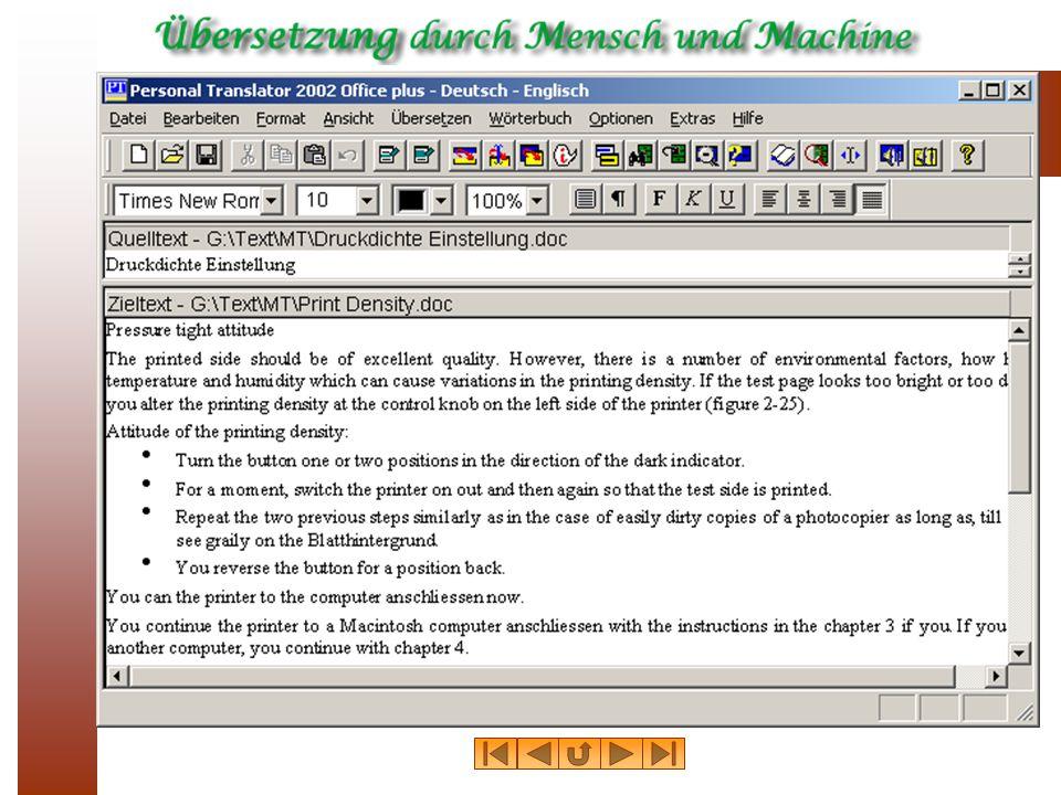 Deutscher Ausgangstext Druckdichte Einstellung Die gedruckte Seite sollte von exzellenter Qualit ä t sein.