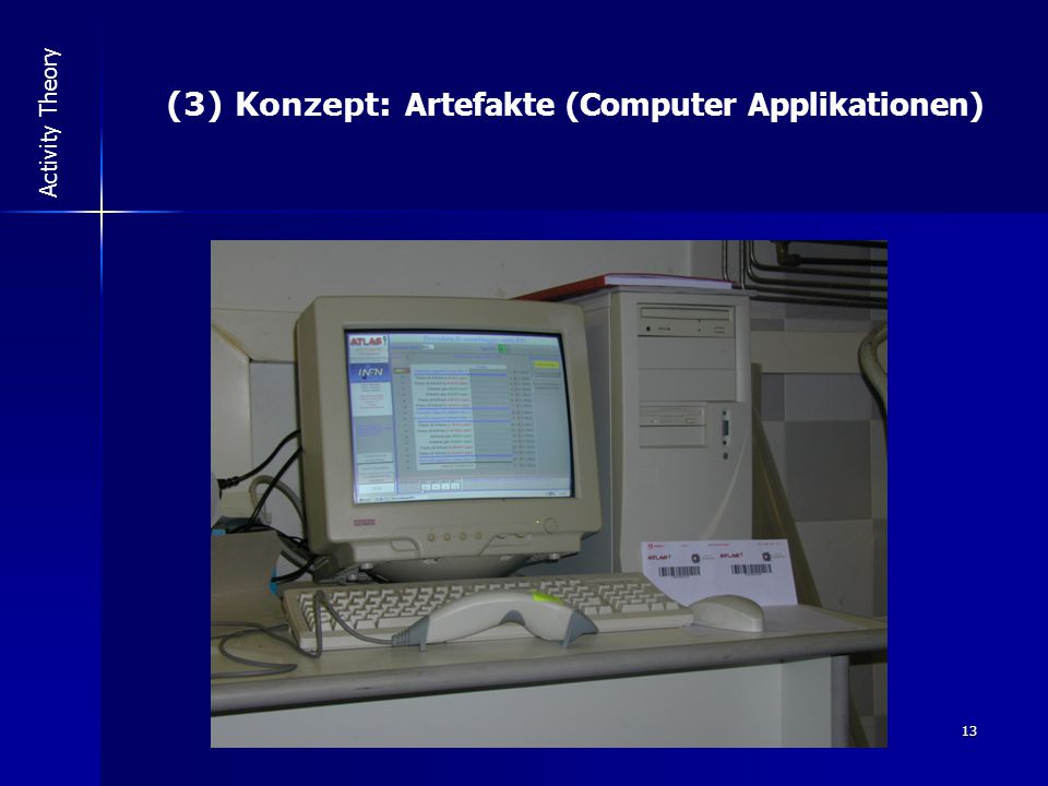 13 Activity Theory (3) Konzept: Artefakte (Computer Applikationen)