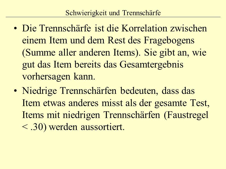 Testgütekriterien (1) 1.