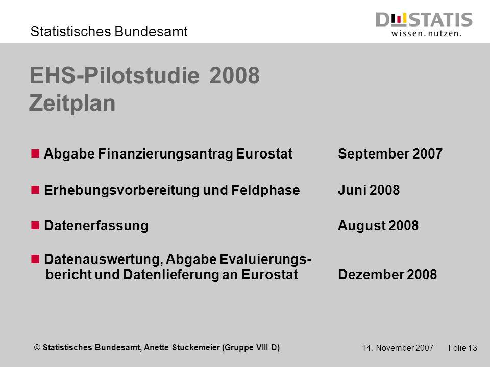 © Statistisches Bundesamt, Anette Stuckemeier (Gruppe VIII D) Statistisches Bundesamt 14.