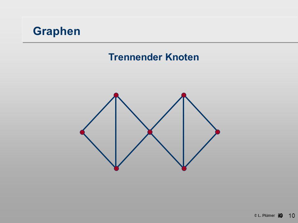 © L. Plümer 10 Graphen Trennender Knoten