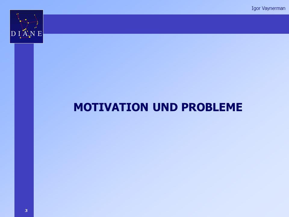 3 Igor Vaynerman MOTIVATION UND PROBLEME