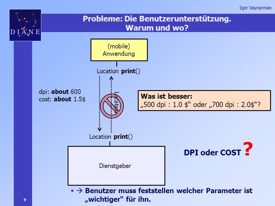 9 Igor Vaynerman Probleme: Die Benutzerunterstützung.