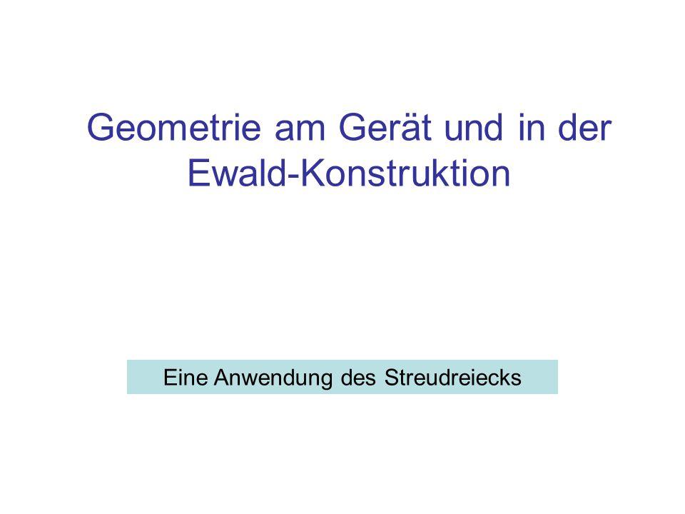 Geometrie am Gerät und in der Ewald-Konstruktion Eine Anwendung des Streudreiecks